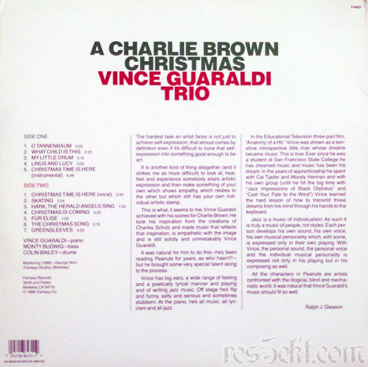 Vince Guaraldi Trio ‎– A Charlie Brown Christmas 1988 vinyl lp platna vianoce christmas